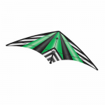 BRS72392 Green Stripe EZ Sports 70in Nylon Kite With Fiberglass Airframe Wind N Sun Brainstorm Kites