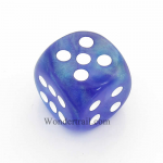 CHXDB3007 Purple Borealis Die With White Pips D6 30mm Chessex