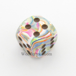 CHXDF3061 Vibrant With Brown Pips Festive Die 30mm D6 Chessex