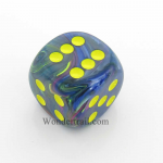 CHXDF3069 Rio With Yellow Pips Festive Die 30mm D6 Chessex