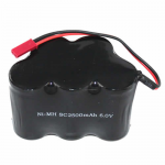RED50051PA Receiver Pack 6V 2500mAh NiMh With JST Connector Redcat Racing