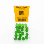 WONGM039 Lime Translucent Marbels 14mm Glass Marbles Pack of 20