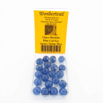 WONGM043 Blue Cat Eye Marbels 14mm Glass Marbles Pack of 20