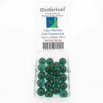 WONGM120 Teal Transparent 16mm Glass Marbles Pack of 20