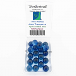 WONGM121 Azure Transparent 16mm Glass Marbles Pack of 20