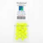 WONGM124 Yellow Cats Eye 16mm Glass Marbles Pack of 20