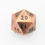 Cyc02155 Antique Copper Coloered Metal Dice D20 33mm Pack Of 1