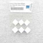WKP17974E6 White Opaque Dice Blank D6 14mm (9/16in) Pack of 6