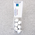 WKP17976E6 White Opaque Dice Blank D10 16mm (5/8in) Pack of 6