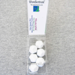 WKP17977E6 White Opaque Dice Blank D12 16mm (5/8in) Pack of 6
