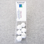 WKP17978E6 White Opaque Dice Blank D20 16mm (5/8in) Pack of 6