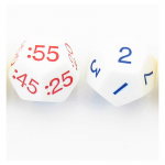 KOP18844 Time Dice Nighttime with Hours and Minuets Numbers Pack of 2