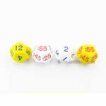 KOP18848 Time Dice Elapsed Time Hours and Minuets Numbers Pack of 4