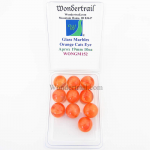 WONGM152 Orange Cat Eye 19mm Glass Marbles Pack of 10 Wondertrail