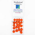WONGT005 Orange Transparent Glass Tokens 12-14mm .50in Pack of 20