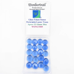WONGT009 Periwinkle Luster Transparent Glass Tokens 12-14mm .50in Pack of 20
