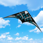 BRS72454 Teal NK-93 Passport Stunt Competition Sport Kite