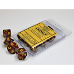 CHX25123 Mercury Speckled With Yellow D10 Set Of 10 Chessex