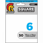 LGNBGSSQ6 Square Clear Boardgame Sleeves 73mm X 73mm