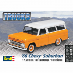 REV4409 1966 Chevy Suburban Plastic Model Kit 1/25 Scale Revell