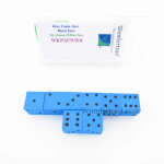WKP16793E8 Blue Foam Dice with Black Dots D6 16mm (5/8in) Pack of 8
