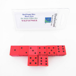 WKP16796E8 Red Foam Dice with Black Dots D6 16mm (5/8in) Pack of 8
