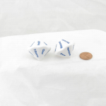 WKP19039E2 White Opaque Dice Blue Weather D14 26mm (1.02in) Set of 2