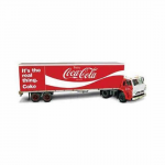 LIN73078 Coke Trailer with Dodge L700 Truck 1/25 Scale Plastic Model Kit