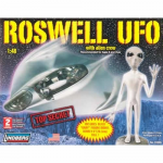 LIN91005 Roswell UFO With Crew And Friendly Alien