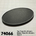 Rpr74066 75mm X 46mm Oval Gaming Bases Pack Of 10