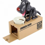 AZIMPT801 Robot Dog Savings Bank Black