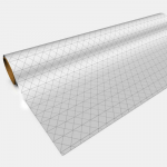 GGP0003 White 1in Isometric Gaming Paper 1 Roll 30in x 12ft Gaming Paper