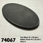 RPR74067 90mm X 52mm Oval Gaming Base Pack of 10 Reaper Miniatures