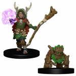 Wzk73319 Boy Druid And Tree Creature Miniatures Pre-painted Minis