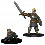 Wzk73320 Boy Fighter And Battle Dog Miniatures Pre-painted Minis