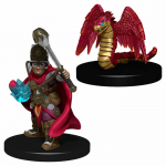 Wzk73321 Boy Cleric And Winged Snake Miniatures Pre-painted Minis