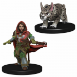 Wzk73322 Girl Ranger And Lynx Miniatures Pre-painted Minis