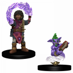 Wzk73323 Girl Wizard And Genie Miniatures Pre-painted Minis
