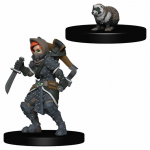 Wzk73324 Girl Rogue And Badger Miniatures Pre-painted Minis