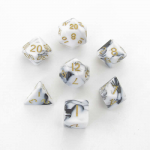 Met1038 Black White With Gold Numbers Set Of 7