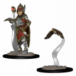 WZK73315 Girl Fighter and Hunting Falcon Miniatures Pre-painted Minis