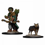 WZK73316 Boy Ranger and Wolf Miniatures Pre-painted Minis Wardlings