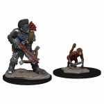 WZK73317 Boy Rogue and Monkey Miniatures Pre-painted Minis Wardlings