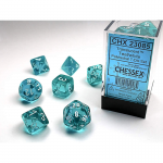 Chx23085 Trans Teal White Set