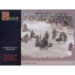 PEG7273 WWII Russian Mortar Team In Greatcoats 1/72 Scale Plastic Model Kit Pegasus