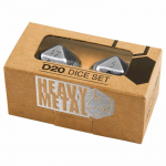 Upr84900 Heavy Metal Dice Chrome D20 Pack Of 2