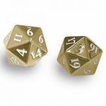 Upr85089 Heavy Metal Dice Gold D20 Pack Of 2