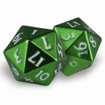 Upr85340 Heavy Metal Dice Emerald Frost D20 Pack Of 2