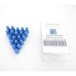 WKP04231E20 Blue Halma Game Pawns 24mm x 13mm Pack of 20