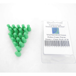 WKP04233E20 Green Halma Game Pawns 24mm x 13mm Pack of 20